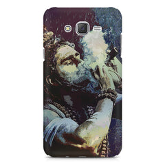 Smoking weed design Samsung Galaxy J1 Ace  printed back cover