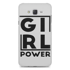 Girl power deisgn Samsung J7 2016 version  printed back cover