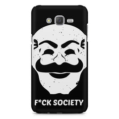 Fuck society design Samsung Galaxy J1 Ace  printed back cover