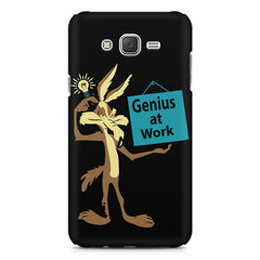 Genius at work design Samsung Galaxy J1 Ace  printed back cover