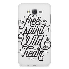I am a free spirit design Samsung Galaxy J1 Ace  printed back cover