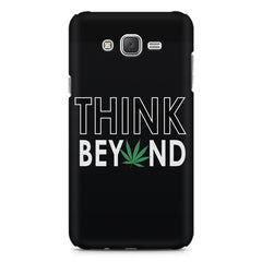 Think beyond weed design Samsung J7 2016 version  printed back cover