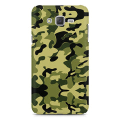 Camoflauge army color design Samsung J7 2016 version  printed back cover