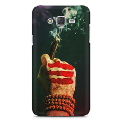 Smoke weed (chillam) design Samsung Galaxy J1 Ace  printed back cover