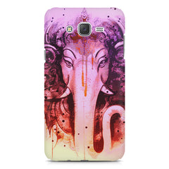 Lord Ganesha design Samsung Galaxy J1 Ace  printed back cover