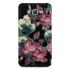 Abstract colorful flower design Galaxy A8  printed back cover