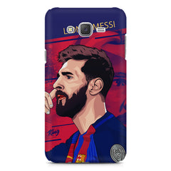 Colorful side face Portrait look, Lionel Messi Design Samsung Galaxy J2 2016 hard plastic printed back cover