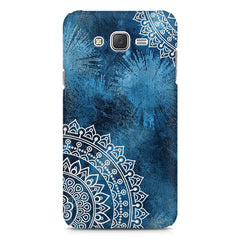 A Vivid Blue ethnic yet cool pattern Galaxy A8 hard plastic printed back cover
