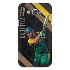 Ab De Villiers the Batting pose    Galaxy A8 hard plastic printed back cover