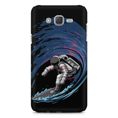 Astronaut space surfing design    Galaxy A8 hard plastic printed back cover