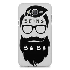 Being BaBa Design Galaxy A8 hard plastic printed back cover