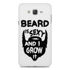 Beard is sexy & I grow it quote design    Galaxy A8 hard plastic printed back cover