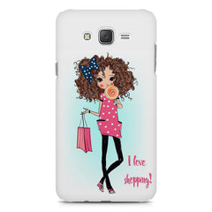 I love Shopping Girly design Samsung Galaxy J7 Nxt hard plastic printed back cover