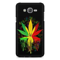 Marijuana colour dripping design    Samsung Galaxy J7 Nxt hard plastic printed back cover
