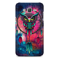 Good luck Owl sketch design    Samsung Galaxy J7 Nxt hard plastic printed back cover