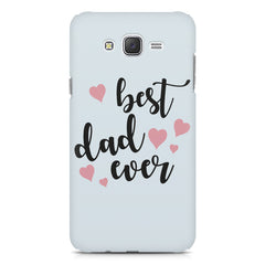 Best Dad Ever Design Galaxy A8 hard plastic printed back cover