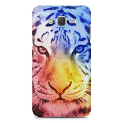 Colourful Tiger Design Samsung Galaxy J2 2016 hard plastic printed back cover