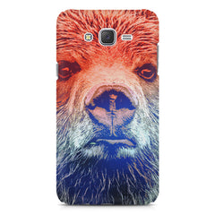 Zoomed Bear Design  Samsung Galaxy J2 2016 hard plastic printed back cover