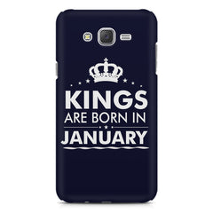 Kings are born in January design    Samsung Galaxy J2 2016 hard plastic printed back cover