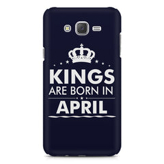 Kings are born in April design    Samsung Galaxy J2 2016 hard plastic printed back cover
