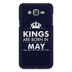 Kings are born in May design    Samsung Galaxy J7 Nxt hard plastic printed back cover