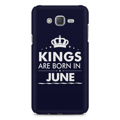 Kings are born in June design    Samsung Galaxy J2 2016 hard plastic printed back cover