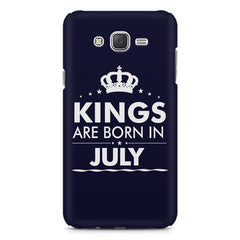 Kings are born in July design    Samsung Galaxy J2 2016 hard plastic printed back cover