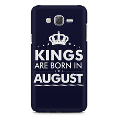 Kings are born in August design    Samsung Galaxy J7 Nxt hard plastic printed back cover