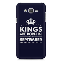 Kings are born in September design    Samsung Galaxy J2 2016 hard plastic printed back cover