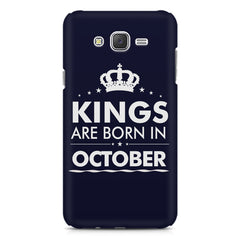 Kings are born in October design    Samsung Galaxy J2 2016 hard plastic printed back cover