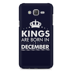 Kings are born in December design    Samsung Galaxy J2 2016 hard plastic printed back cover