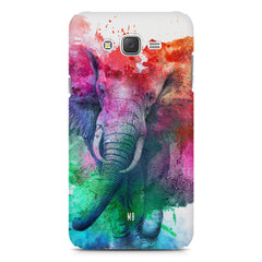 colourful portrait of Elephant Samsung Galaxy J2 2016 hard plastic printed back cover