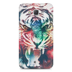 Tiger with a ferocious look Samsung Galaxy J2 2016 hard plastic printed back cover