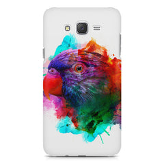 Colourful parrot design Samsung Galaxy J2 2016 hard plastic printed back cover