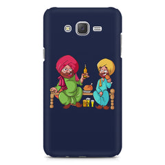 Punjabi sardars with chicken and beer avatar Samsung Galaxy J2 2016 hard plastic printed back cover