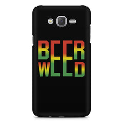 Beer Weed Galaxy A8 hard plastic printed back cover