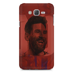 Messi jersey 10 blended design Samsung Galaxy J2 2016 hard plastic printed back cover