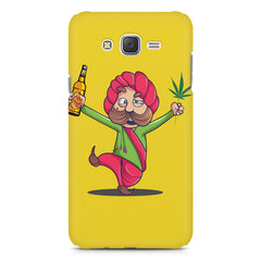 Sardar dancing with Beer and Marijuana  Samsung Galaxy J2 2016 hard plastic printed back cover