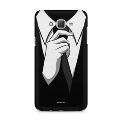 Corporate Tie design,  Samsung Galaxy J1 Ace  printed back cover