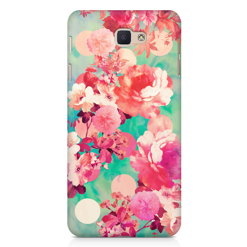 new product ecd65 97a98 Floral design, Samsung Galaxy J5 Prime printed back cover