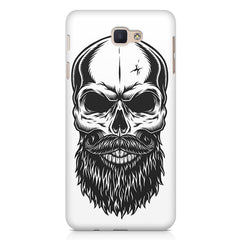 Skull with the beard  design,  Samsung J7 Max  printed back cover
