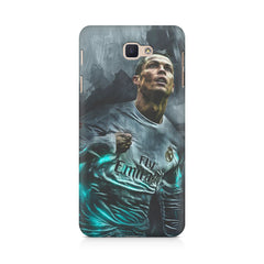 Oil painted ronaldo  design,  Samsung J7 Max  printed back cover