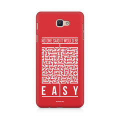 No One Said It Would Be Easy- Start-Up Struggle Quotes design,  Samsung J7 Max  printed back cover