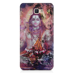 Shiva painted design Samsung J7 Max  printed back cover