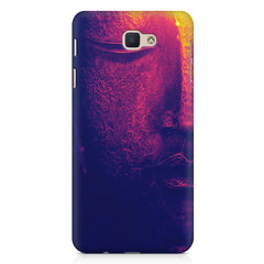 Half red face sculpture  Samsung Galaxy On7 2016  printed back cover