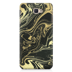 Golden black marble design Samsung J7 Prime  printed back cover