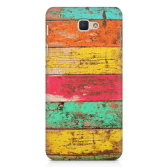 Strips of old painted woods  Samsung J7 Max  printed back cover