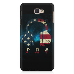 America tunes Blue sprayed  Samsung J7 Max  printed back cover