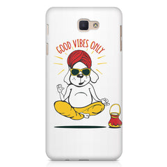 Good vibes only gyaan dog  design,   Samsung Galaxy A3 2017 hard plastic printed back cover.