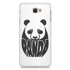 White Panda  design,   Samsung Galaxy A3 2017 hard plastic printed back cover.